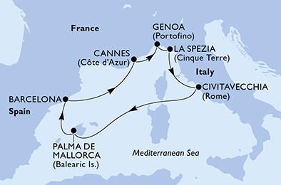 rejs statkiem MSC GRANDIOSA od 12/04/2021 do 19/04/2021 z ...